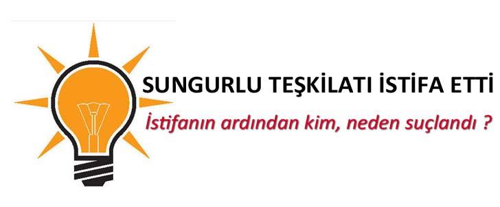 Sungurlu'da AK Parti Teşkilatı İstifa Etti