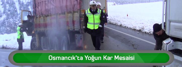 Osmancık'ta Yoğun Kar Mesaisi