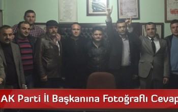 MHP'den AK Parti İl Başkanına Fotoğraflı Cevap