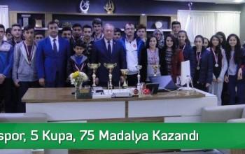 Sungurluspor, 5 Kupa, 75 Madalya Kazandı