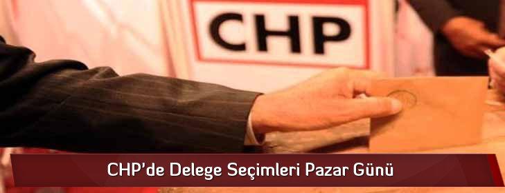 CHP'de Delege Seçimleri Pazar Günü