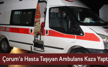 Çorum'a Hasta Taşıyan Ambulans Kaza Yaptı