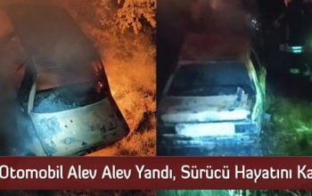 Otomobil Alev Alev Yandı, Sürücü Hayatını Kaybetti
